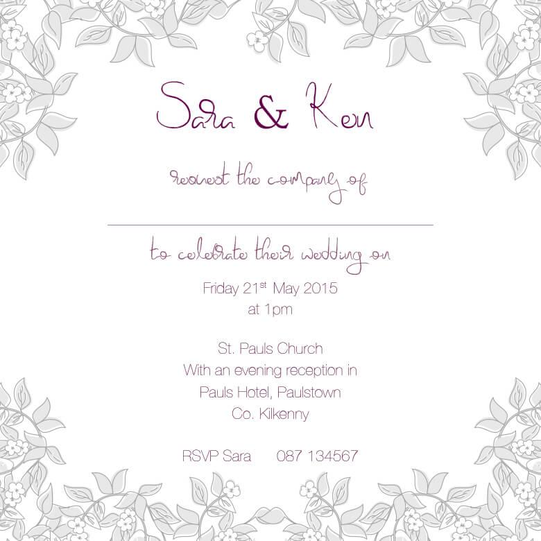 Personalised wedding invitations evening invites rsvp sate the outline 4 copy stopboris Gallery