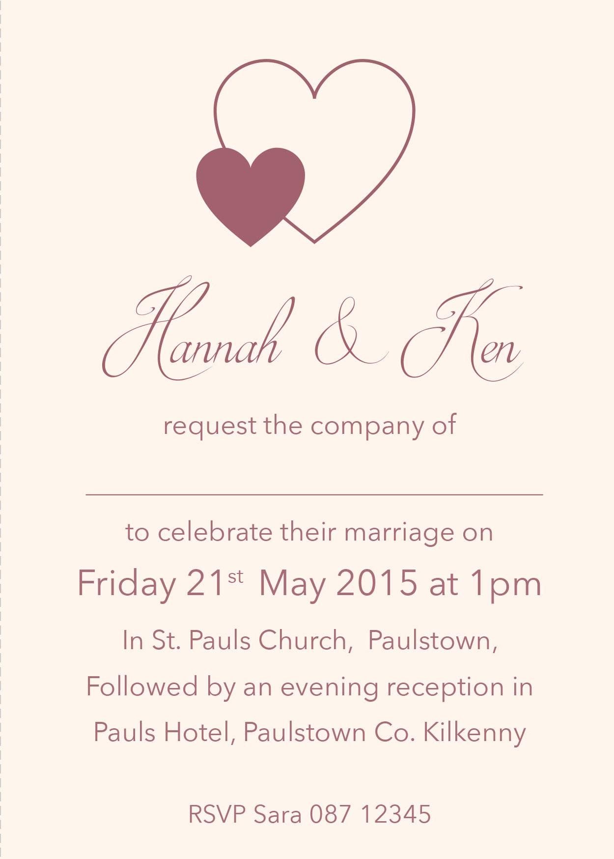 Personalised Wedding Invitations Evening Invites RSVP Sate the